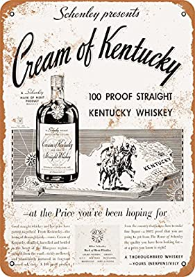 9 x 12 METAL SIGN - 1934 Cream of Kentucky Straight Whiskey - Vintage Look Reproduction