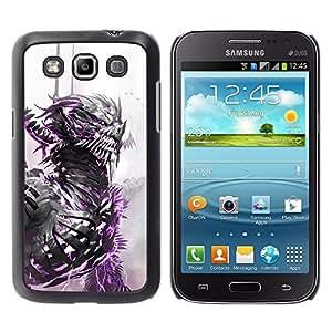 iBinBang / Funda Carcasa Cover Skin Case - Dragon Warrior Blanco Acuarela Monster - Samsung Galaxy Win I8550 I8552 Grand Quattro