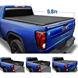Tyger Auto T1 Soft Roll Up Truck Bed Tonneau Cover Compatible with 2019-2021 Chevy Silverado/GMC Sierra 1500 New Body Style |
