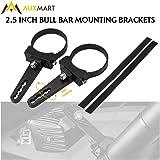 "AUXMART Tube Clamps Mounting Brackets for LED light bar Work Lights Fog Lights Off Road Lights Fit 2.5"" Bull Bar (1 Pair)"