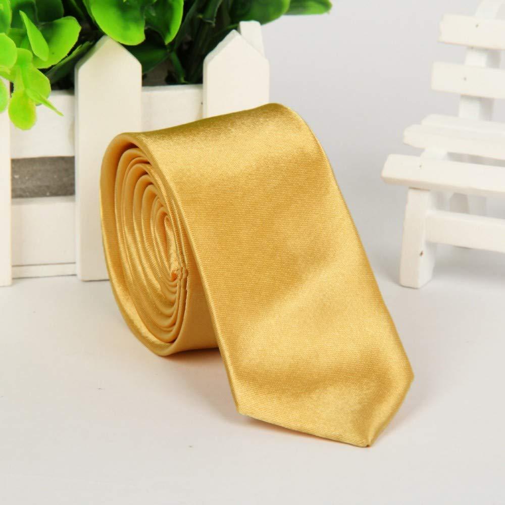 Wangwang454 Unisex versión angosta Casual, Corbata de Color sólido ...