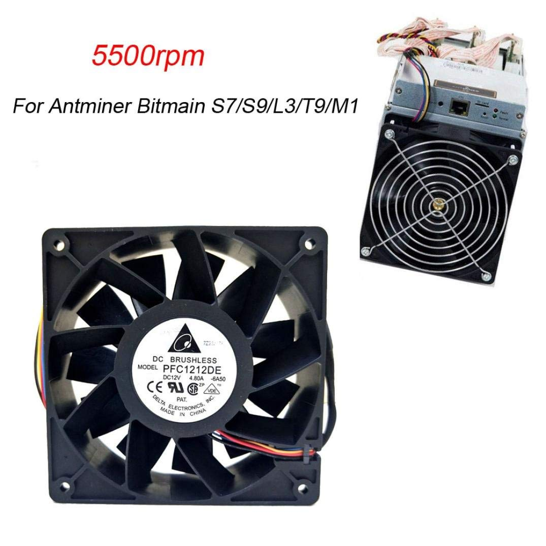 5500RPM Cooling Fan Replacement 4-pin Connector For Antminer Bitmain S7//S9//L3//T9