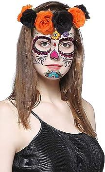 El día del maquillaje muerto, Halloween Temporales de la cara ...