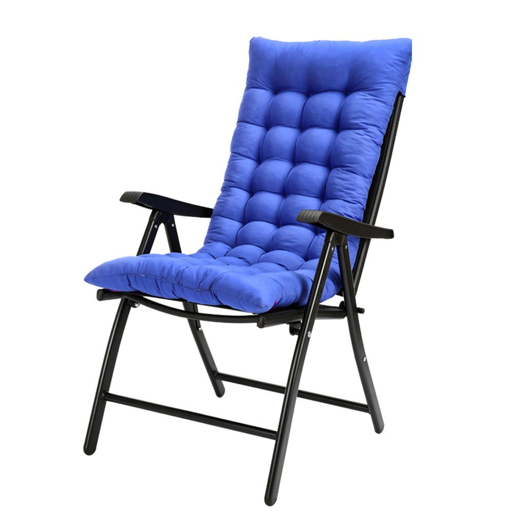 QRFDIAN Klapp Schaukelstuhl Mit Schwarzem Pad, Outdoor Tragbare Schwerelosigkeit Stühle Für Camping Angeln Strand Im Freien, 150 kg (Farbe : Blau)