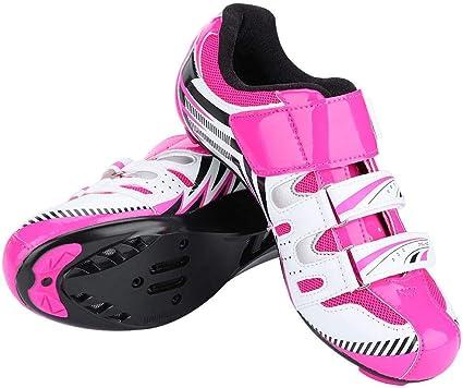 Dioche Zapatillas de Ciclismo para Mujer, Zapatillas de Bicicleta ...