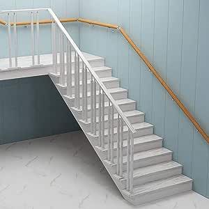 Escalera de madera Barandilla con soportes de acero inoxidable |Inicio ancianos Escaleras Pasamanos para escaleras for Corredor Loft Balaustrada barra de apoyo interior al aire libre de la varilla: Amazon.es: Bricolaje y