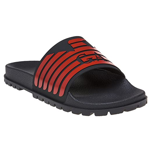9084d5732 Image Unavailable. Image not available for. Color: Emporio Armani Eagle  Logo Slide Mens ...