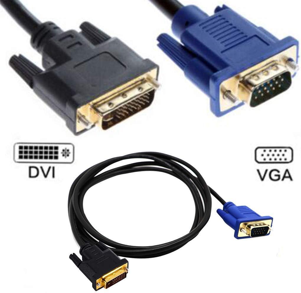 LemoningDual Link DVI-I DVI to VGA D-Sub Video Adapter Cable Converter Lead 1.5M