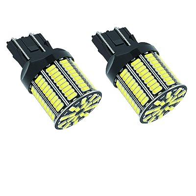 2pcs 7443 Brake Reverse Back up LED Light Bulbs, Bright 6000k White 1500 Lumens 3014 108 SMD 24V T20 7440 7443 Replacement LED Bulbs for Backup Reverse Lights Tail Brake Lights: Automotive