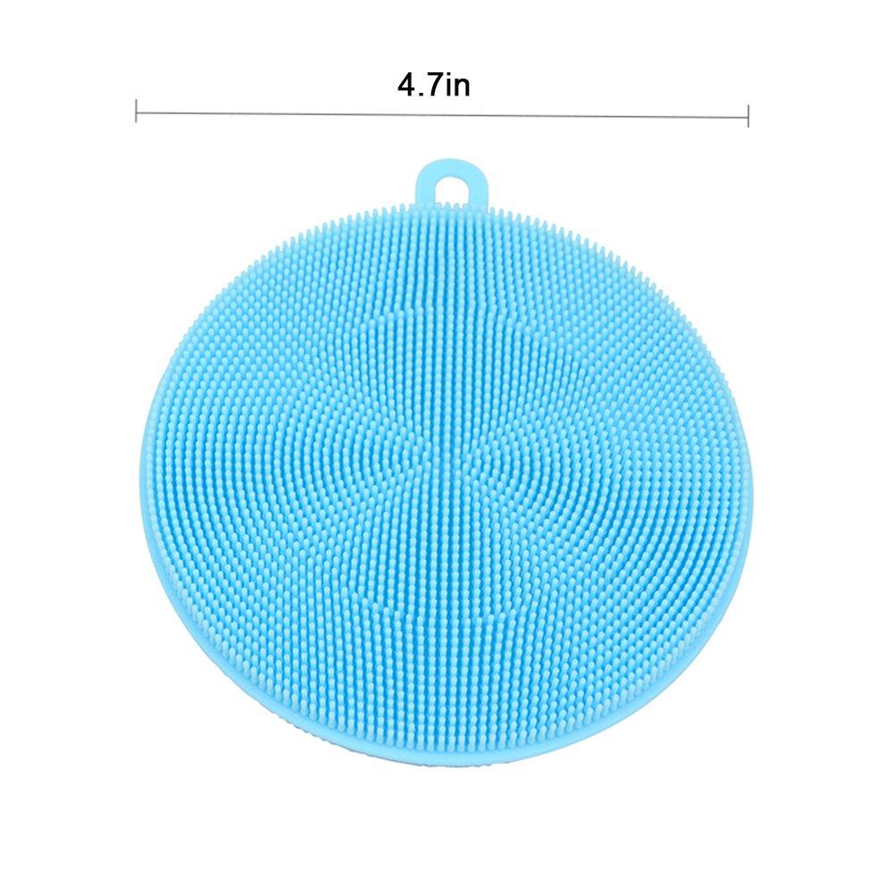 food-grade antiaderente Dishwashing panno 3/pezzi Amhii silicone scrubber spugna per pulizia piatti/ tenda /antibatterico