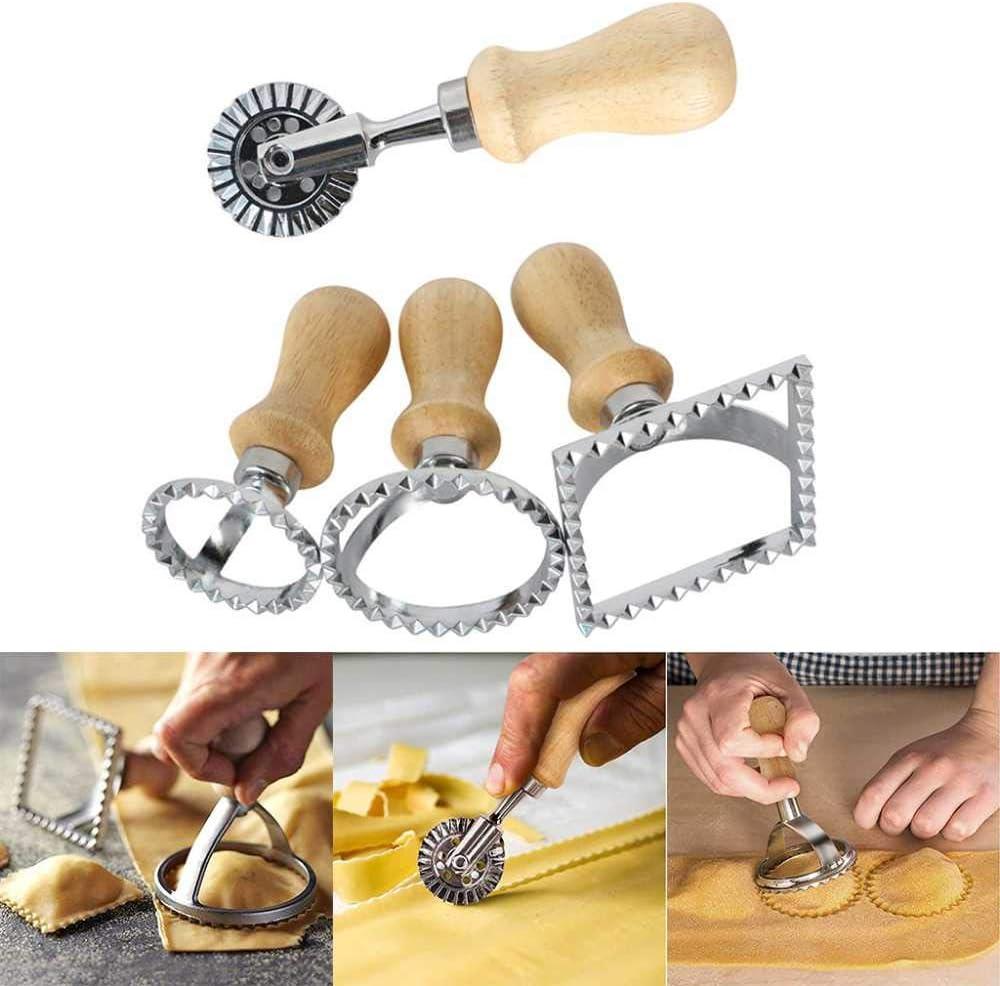 Ravioli Stamp Spaghetti Pasta Máquina de Corte a Mano Máquina de Estampado en Relieve Bola de Masa Máquina de moldeo Prensa de Molde Herramienta de Molde de Pasta de Cocina