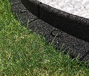 Bordes flexibles para jardín FlexiBorder, bordes para cercas o paisajismo - 10 x 1 metro de longitud, negro: Amazon.es: Jardín
