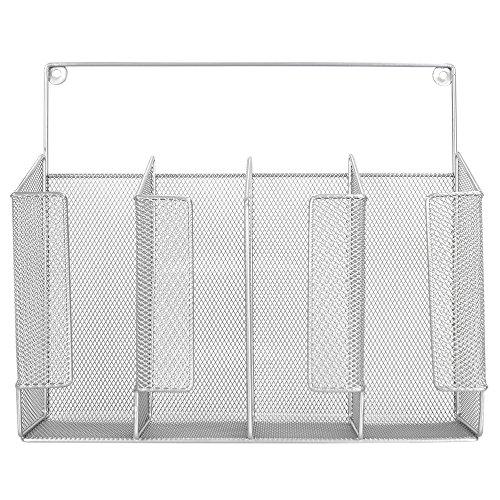 Home Basics Wall/Cabinet Mount Kitchen Wrap Storage Bags Organizer, Mesh Metal