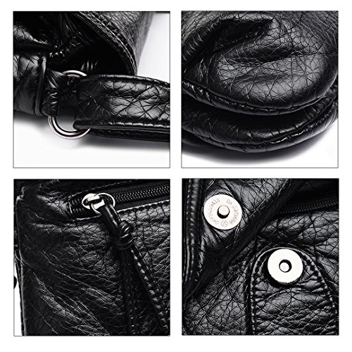 Millya - Bolso mochila  para mujer, negro (Negro) - bb-01499-01C negro