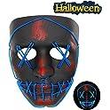 Vatos Halloween Mask Led Light Up Scary Mask