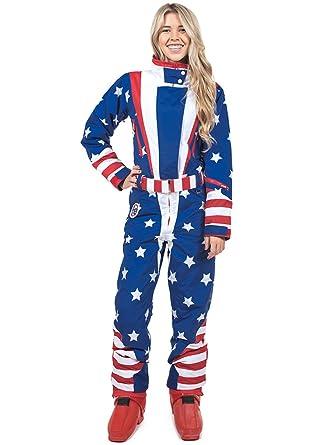 Amazon.com  Tipsy Elves Women s American Flag Patriotic Ski Suit ... 0092b0dad