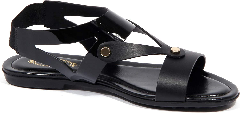 1801J Sandalo Donna Black Tod'S Scarpe Leather/patent Shoe Woman Nero