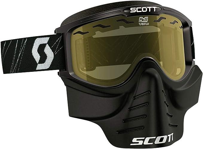 Scott 83x Safari Cross Mtb Paintball Goggle Inkl Facemaske Brille Schwarz Klar Auto