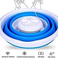 Draagbare Mini-wasmachine Lichtgewicht Opvouwbare Ultrasone Turbinewasmachine, Lichtgewicht Reiswasmachine USB…