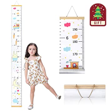 Card Album Wall Art Girls Personalised Gifts Height Chart Baby Unicorn
