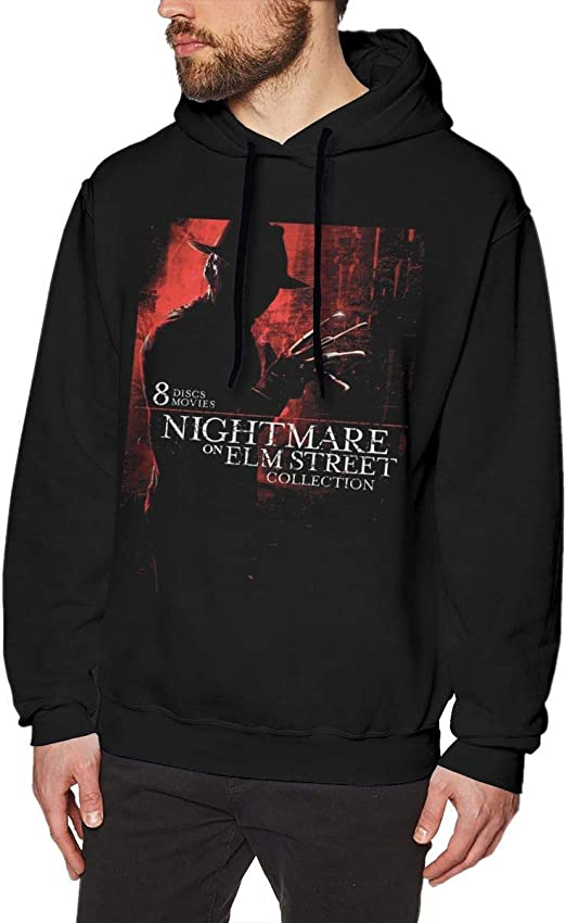 Imagen deDFGDG Mens Sweatshirt A Nightmare On ELM Street Printing Sweatshirt Black for Mans Classic Hooded Sweatshirt