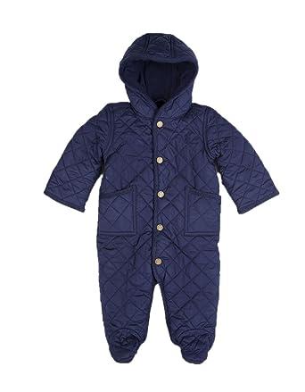 a8d32d802 Ralph Lauren Baby boys navy Quilted Snowsuit uk size 6 months:  Amazon.co.uk: Clothing