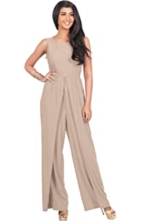 5349960366ec KOH KOH Womens Sleeveless Cocktail Wide Leg One Piece Jumpsuit Romper  Playsuit