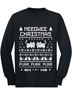 e71874b91d4 Tstars Meeowee Christmas Ugly Sweater - Cute Xmas Party Youth Kids Long  Sleeve T-Shirt