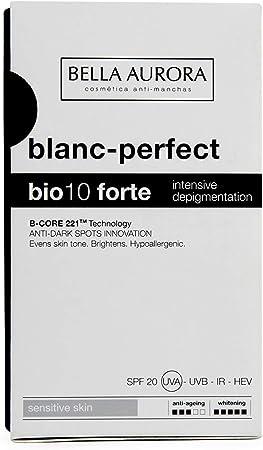 Bella Aurora Bio 10 Forte Crema Anti-Manchas Facial Piel Sensible SPF 20, Anti-edad, Despigmentante Cara, 30 ml