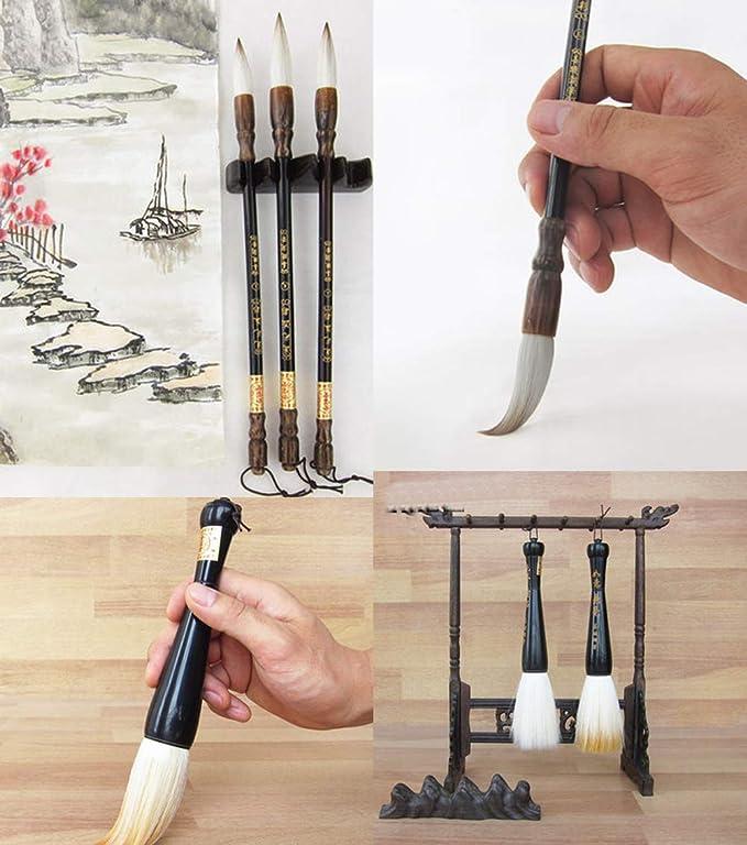Chinois Grand Calligraphie Chinoise Sumi Dessin Aquarelle Kanji Brush F1