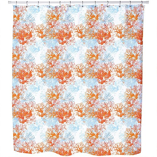 Uneekee Coral Garden Shower Curtain: Large Waterproof Luxurious Bathroom Design Woven Fabric by uneekee