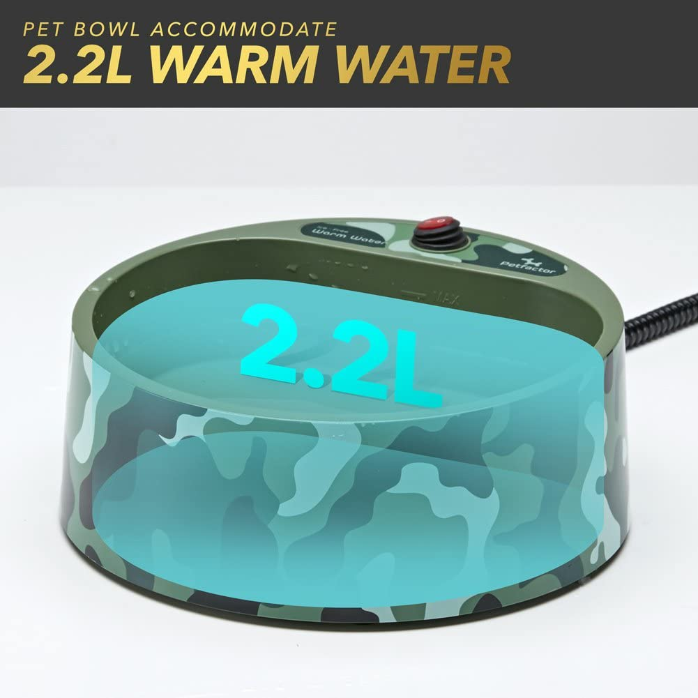 heated water bowl for dogs