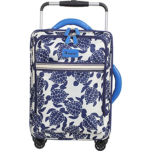 it-luggage-worlds-lightest-21-carry-on-spinner-navy-cream-sea-turtles-print