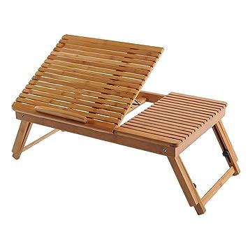 Mesa Plegable - Cama Plegable para Estudiantes universitarios Mesa portátil para Mesa de bambú (53x32x21cm): Amazon.es: Hogar