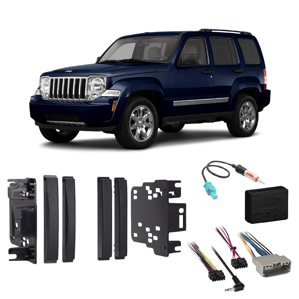 Fits Jeep Liberty 2008-2012 Double DIN Stereo Harness Radio Install Dash Kit Package
