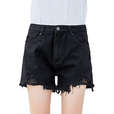Adelina Damas Elásticos Pantalones Vaqueros Mezclilla Pantalones Cortos De Pantalones Vaqueros Moda Completi Elegantes De La Manera Pantalones Vaqueros De La Muchacha Pantalones Cortos De Mezclilla: Ropa y accesorios
