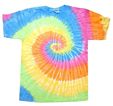 Amazon.com: Buy Cool Shirts Mens Tie Dye Shirt Blue Green Orange ...
