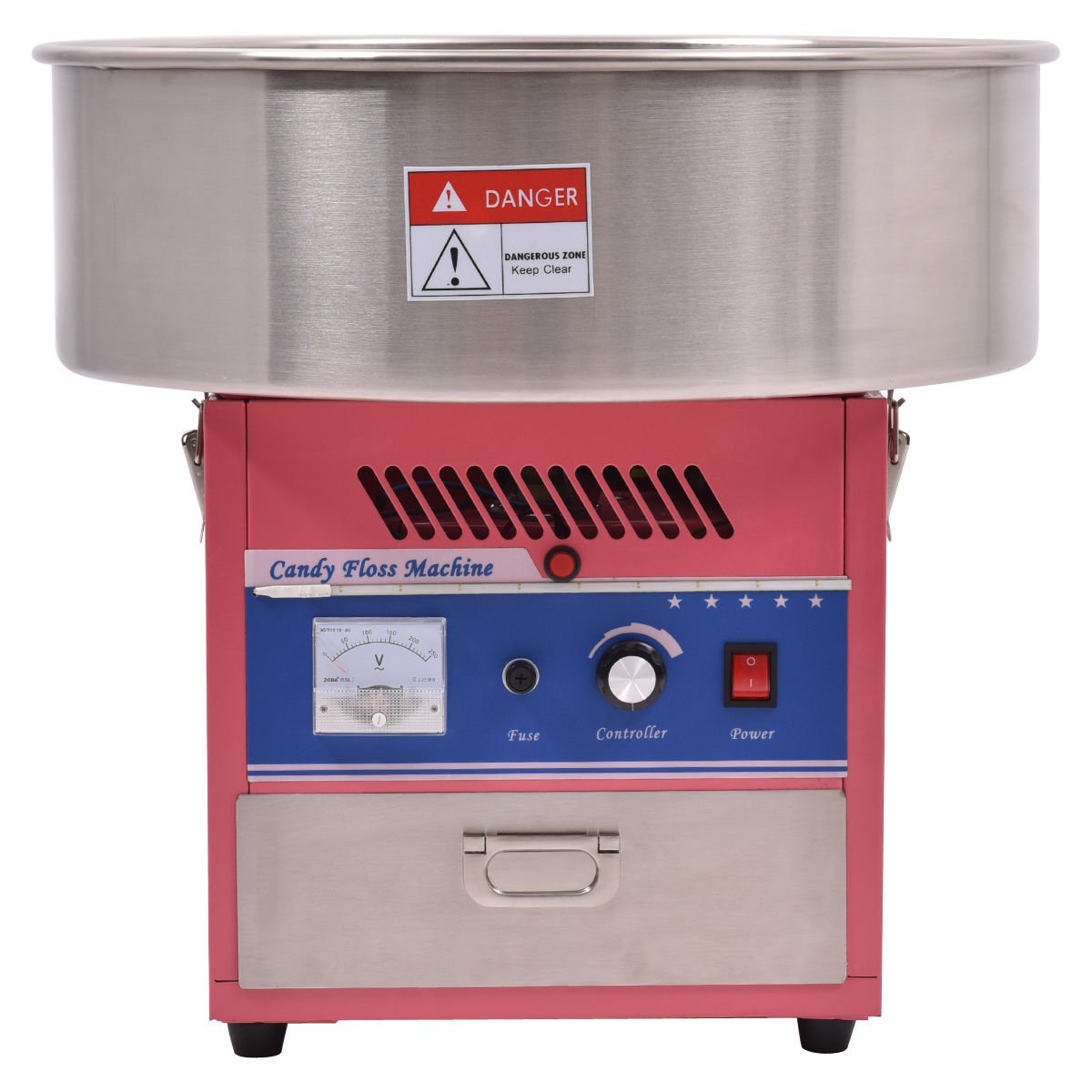 Giantex Electric Cotton Candy Machine Floss Maker Commercial Carnival Party Pink by Giantex (Image #4)