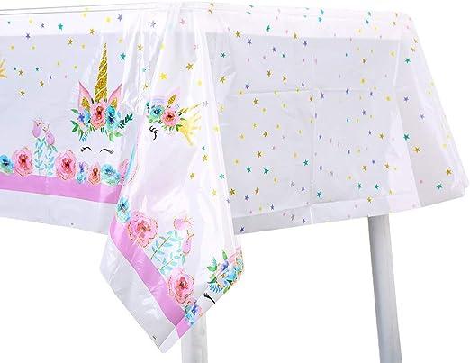 Amazon.com: Tiaronics - Mantel desechable de unicornio de ...