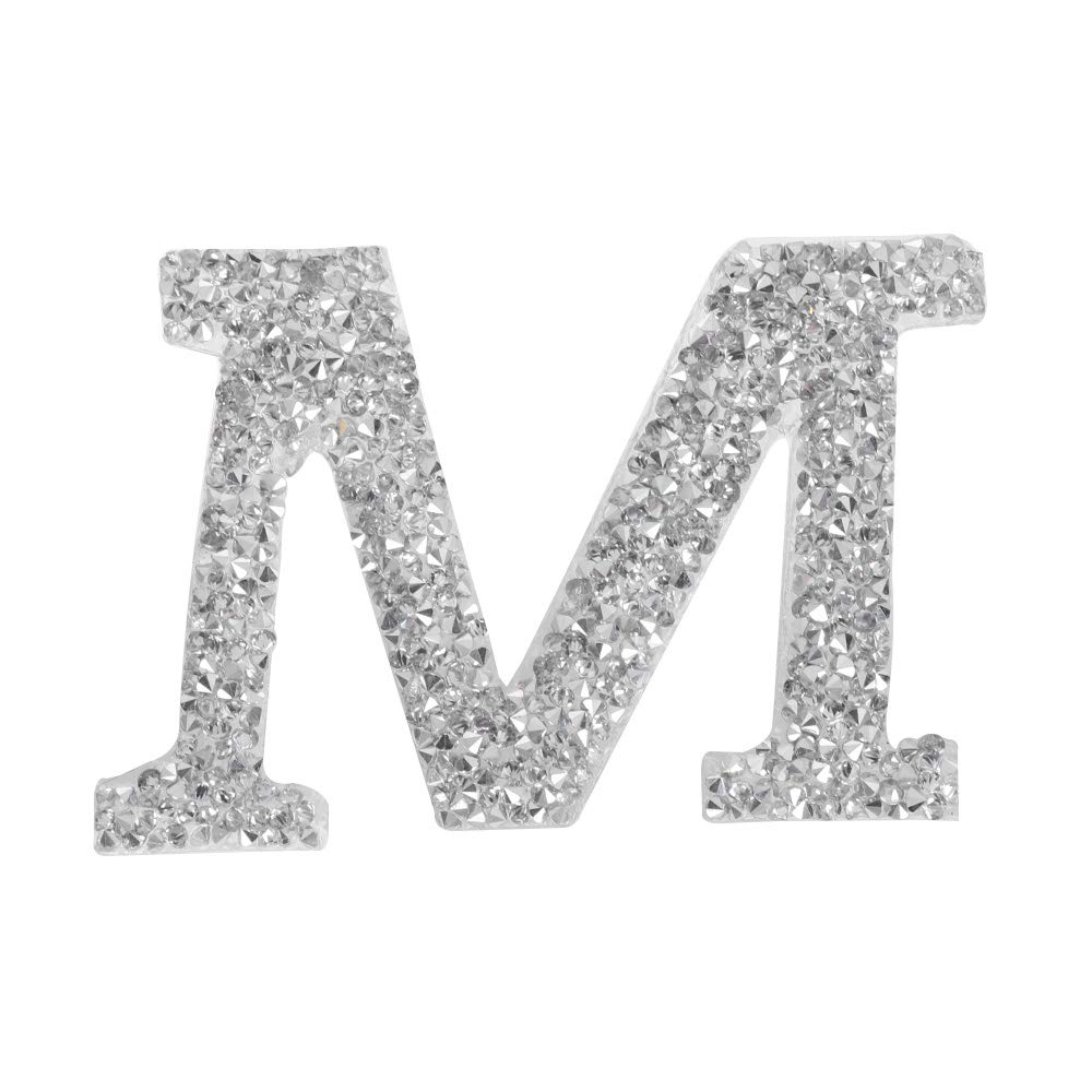 1PC A-Z Bling Rhinestone Letter Patches Glitter Alphabet Applique DIY Craft Patch Clothes Decoration Accessories A