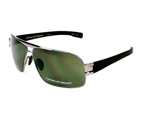 03cfb7a54038 Porsche Design sunglasses P 8543 D Titanium Gun - Black Grey green   Amazon.co.uk  Clothing