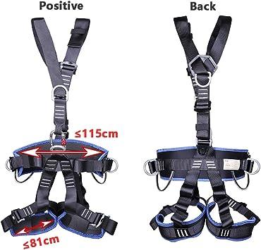 Imbrago Arrampicata APOE Imbragatura Anticaduta da Lavoro Cintura di Sicurezza per Tree Climbing Alpinismo Trazioni Speleologia Salvataggio Antincendio Ponteggio Edilizia