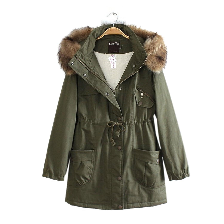 ipretty Jacke Damen Herbst Parka mit Kapuze Mantel Winter herbst Jacket Damen Trenchcoat Outerwear