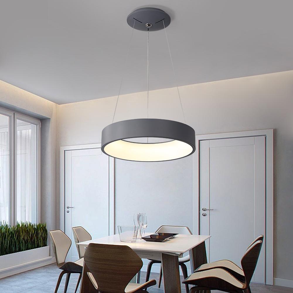 Modern Elegant 24W LED Pendelleuchte Kreativ Runden Ring Entwurf ...