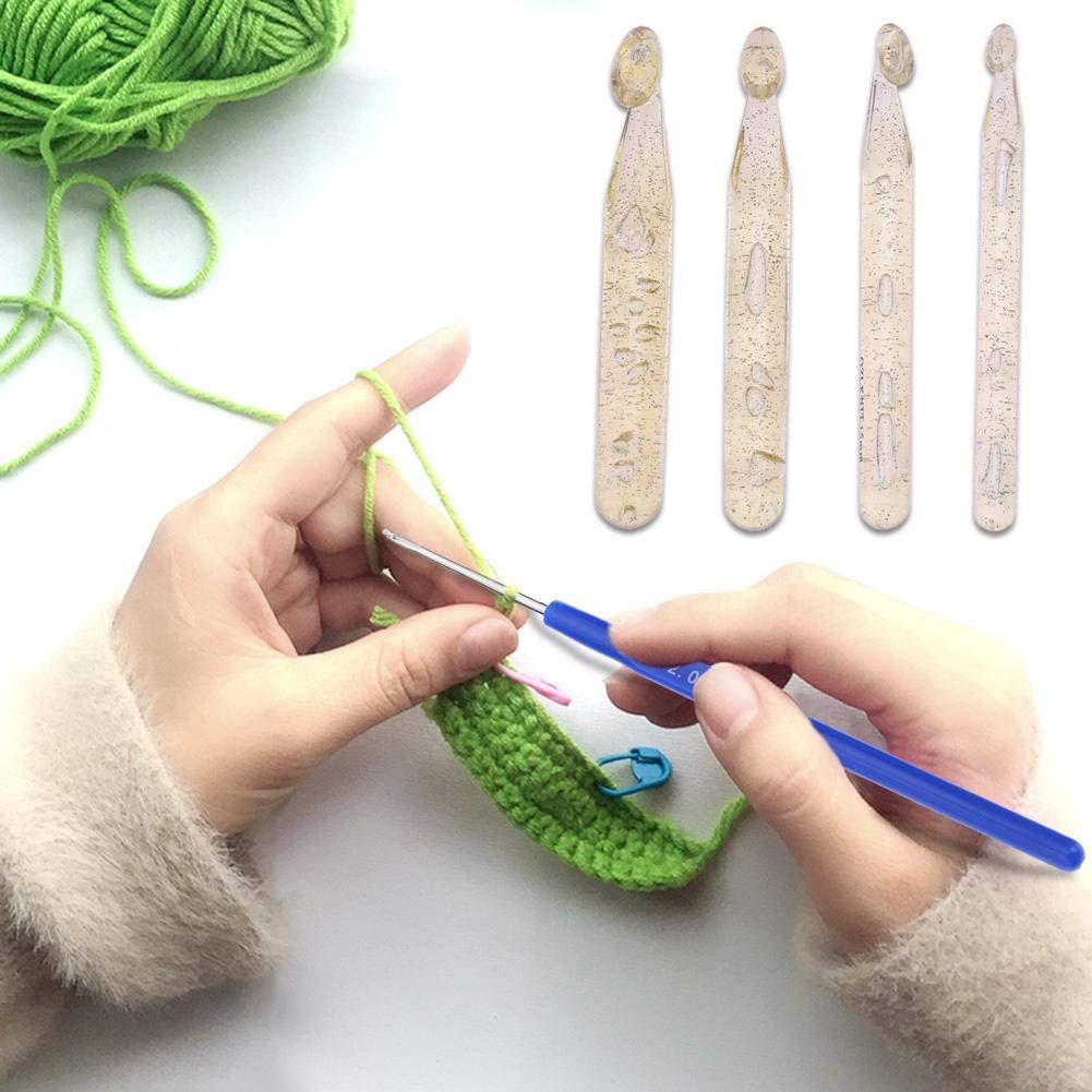 color azul mango suave Juego de 10 agujas de tejer para ganchillo de aluminio