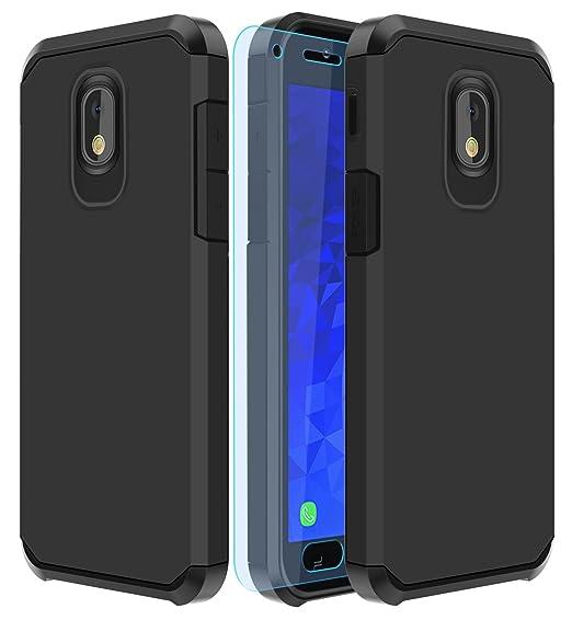 new concept 35cb2 1bf6d Galaxy J7 2018 Case,Galaxy J7 Aero/J7 Star/J7 Top/J7 Aura/J7 Crown/J7  Refine Case with HD Screen Protector Slinco Dual Layer Shock Proof  Protective ...