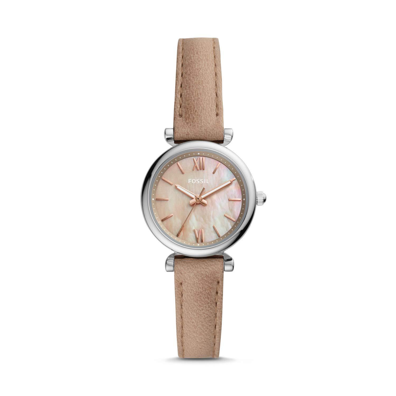 Carlie Mini Three-Hand Sand Leather Women's Watch ES4530