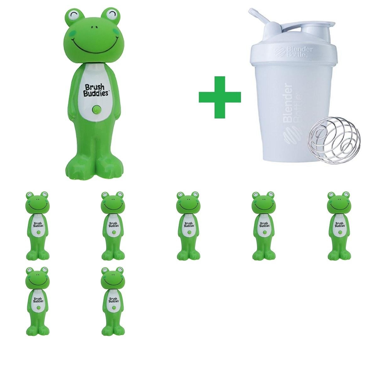 Brush Buddies, Poppin', Leapin' Louie Frog, Soft, 1 Toothbrush(8 Packs)+ Assorted Sundesa, BlenderBottle, Classic With Loop, 20 oz