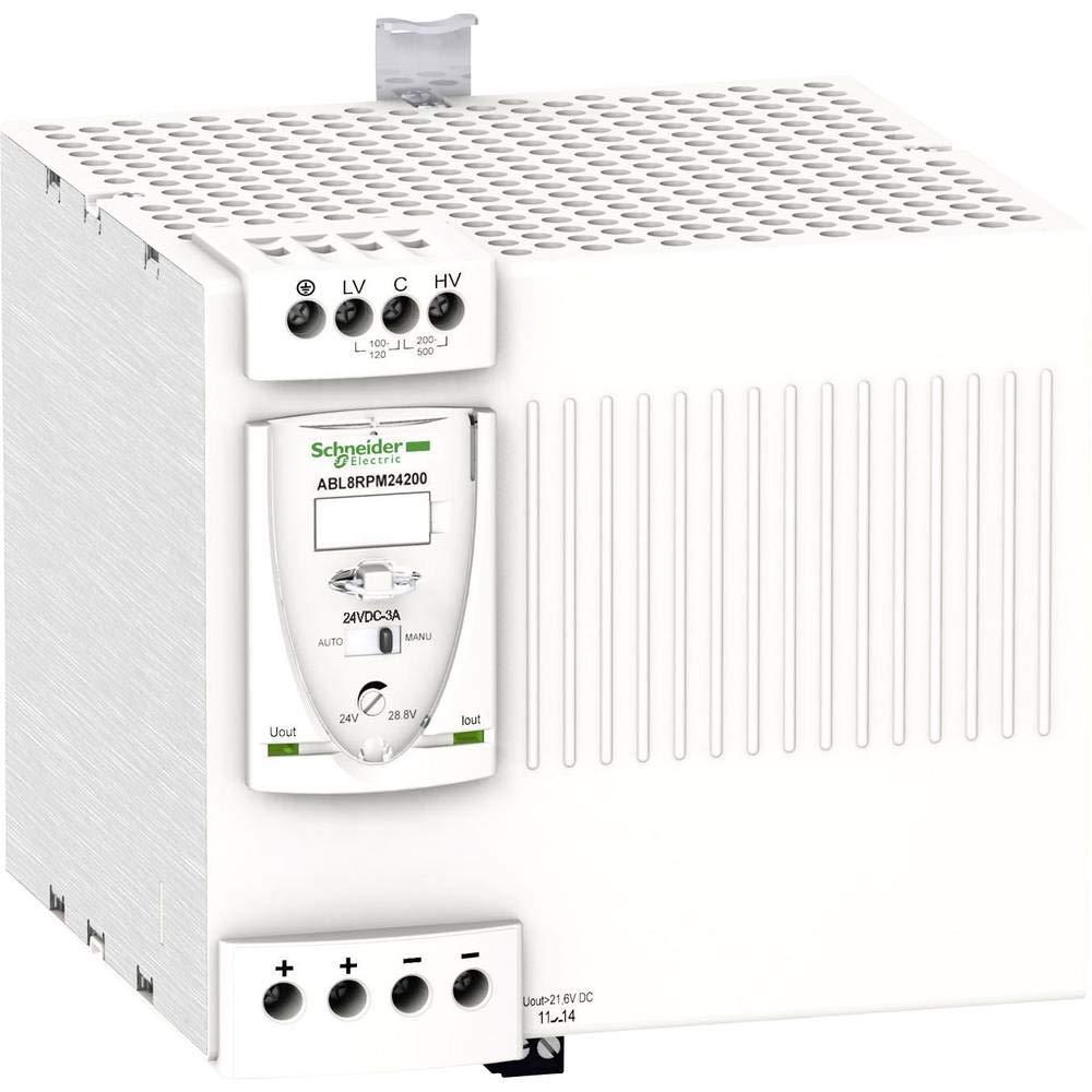 Schneider Electric ABL8RPM24200 Fuente De Alimentación Conmutada Modular, 1 O 2 Fases, 100-240 V, 24 V, 20 A