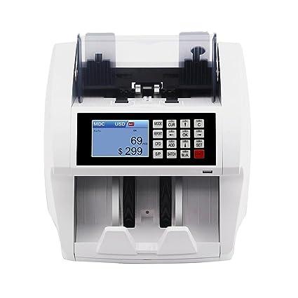 KKmoon monedas dinero billetes Bill automático pantalla LCD con contador contando máquina UV MG IR Detector